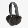 EARMUFFS WITH UPCYCLED FUR GOLF  9500 DARK MINK O/S