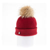 ODETTA - ORMOS BEANIE WITH UPCYCLED FUR POM GOLF  5800 RED O/S