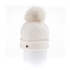 ODETTA - ORMOS BEANIE WITH UPCYCLED FUR POM GOLF  7500 WHITE O/S