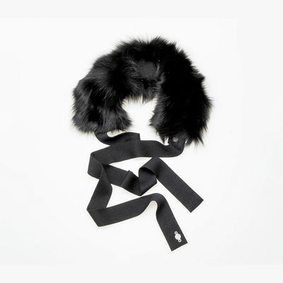 REUSED FUR HEADBAND GOLF  2100 BLACK FOX O/S