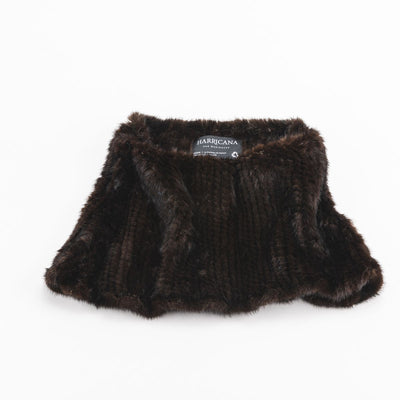 KNITTED FUR TUBE - UPCYCLED FUR