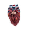 FINE WOOL SCARF WITH REUSED FUR LOOP - 70CM X 70CM GOLF  1900 ROSE-BURGUNDY O/S