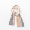 CASHMERE CABLE SCARF GOLF  0900 BEIGE-IVORY-GREY O/S