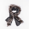 RECYCLED CASHMERE CABLE SCARF GOLF  7900 GREY O/S