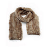 KNITTED FUR SCARF