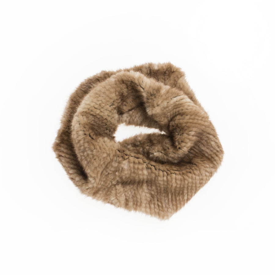 KNITTED FUR TUBE LARGE
