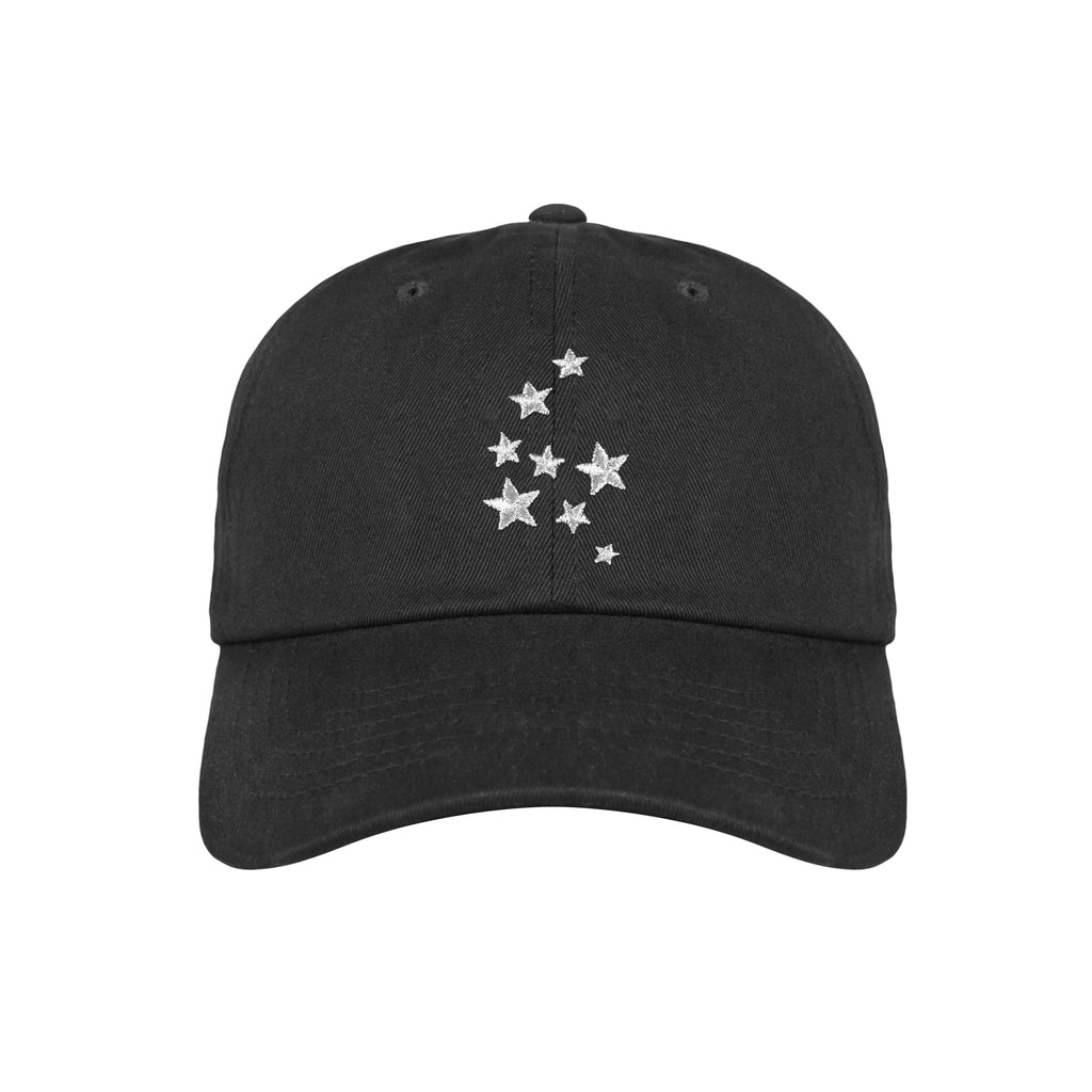 Lauren Z Side™  Silver Stars Dad Hat (Black)