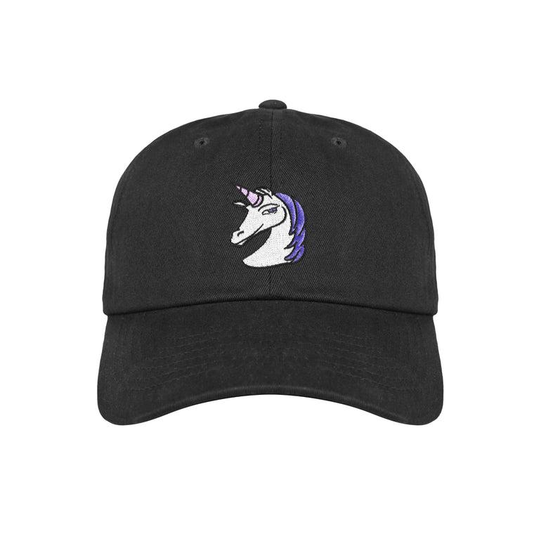 Lauren Z Side™  Unicorn Dad Hat (Black)