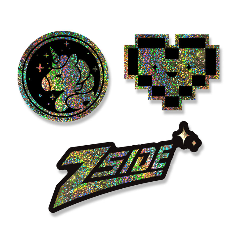 LAUREN Z SIDE® | GLITTER STICKER PACKS / INDIVIDUAL STICKERS