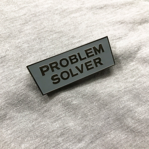 Problem Solver Pin (Gray with nickel letters)