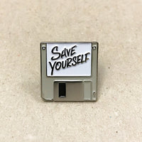Save Yourself Pin (Beige)