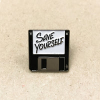 Save Yourself Pin (Black)