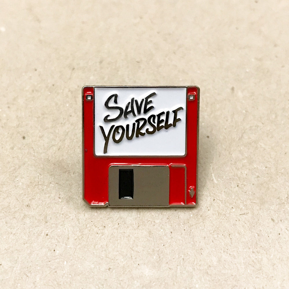 Save Yourself Pin (Red)