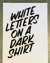 White Letters