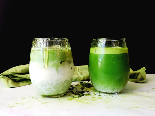 Almond Matcha Green Tea Iced-Latte (Two Amazing Ways!)