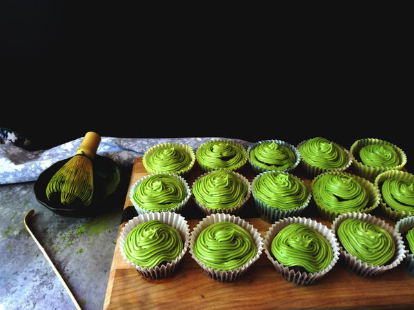 Coconuty Double Chocolate & Matcha Cupcakes