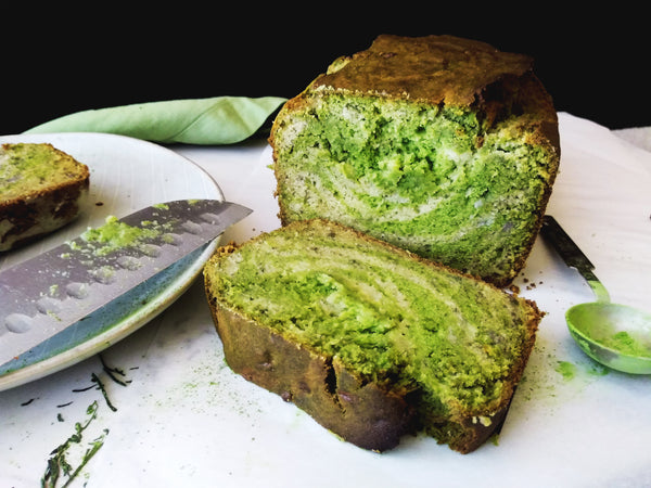 Fluffy & Soft Gluten Free Matcha Green Tea Swirl Banana Bread