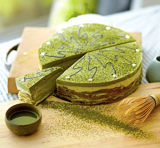 Morning Matcha Crepe Cake