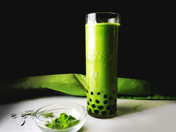 Smooth & Creamy Matcha Green Tea Bubble Tea!