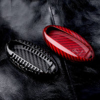 Carbon Fiber Remote Key Fob Case Shell Cover For Nissan GTR Red/Black