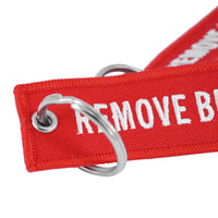 Remove Before Flight Key Chains