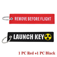 Remove Before Flight AND Launch Key Keychains!