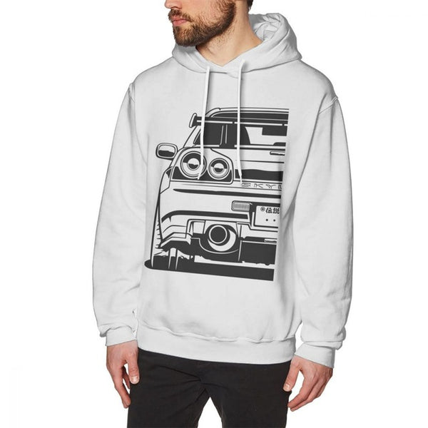 Skyline R34 GTR Long Sleeve Men's Hoodie 100% Cotton Free Shipping!