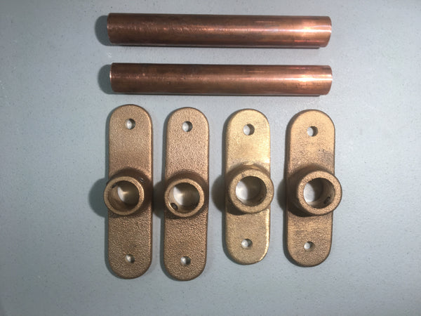 BB35 Brass plates+spacers - Marine antenna