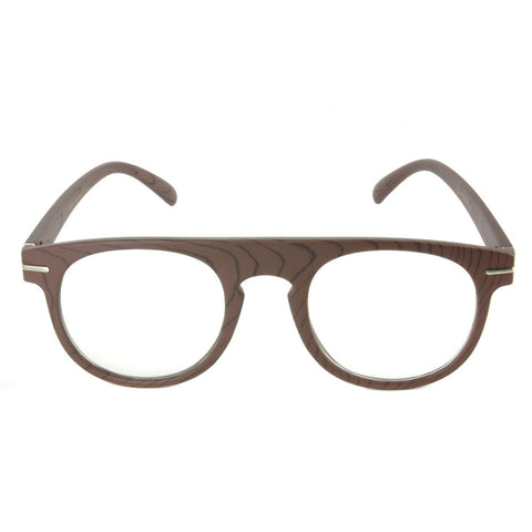 Xavier Wood Print Glasses (Clear Lens)