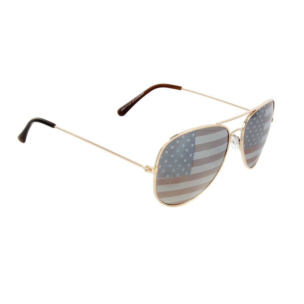 Lincoln Aviator Flag Sunglasses
