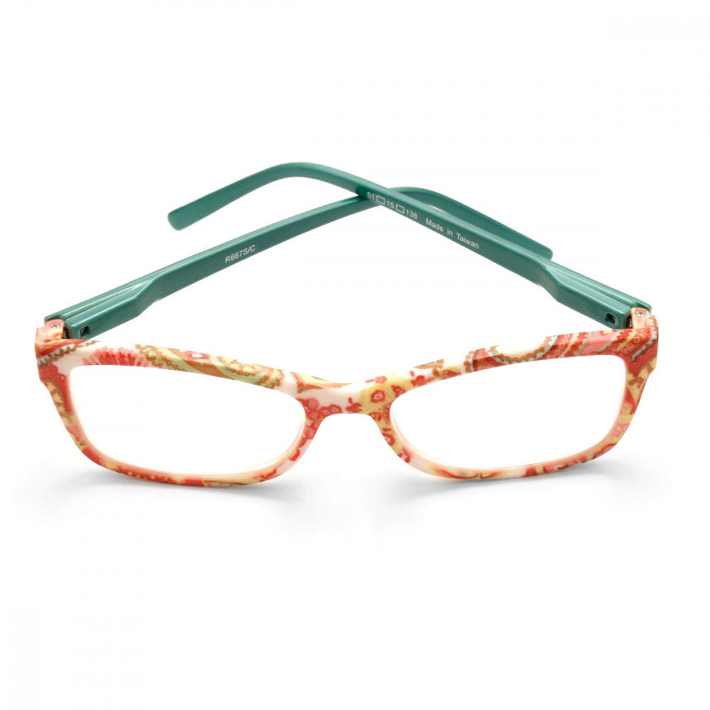 Spring Print 1.00 Power Reader Glasses