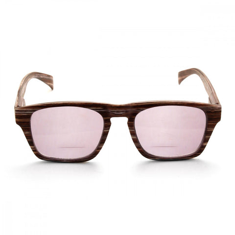 Wood Print 3.00 Power Reader Glasses
