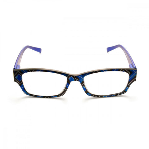 Square Patterned 1.00 Power Reader Glasses