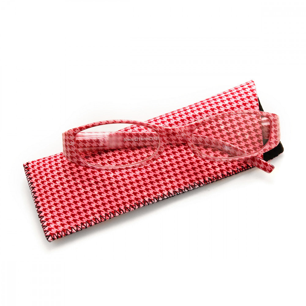Houndstooth Pattern 2.75 Power Reader Glasses