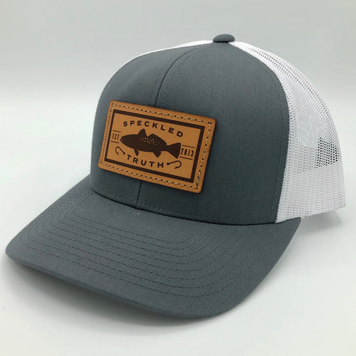 Speckled Truth with Leather Patch Cap (Gray/White)