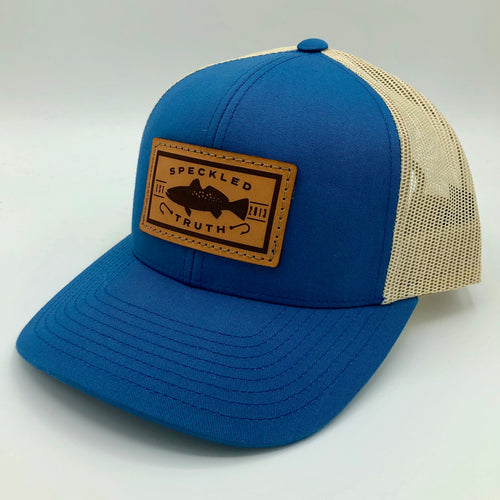 Speckled Truth with Leather Patch Cap (Smk Blue/Khaki)