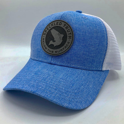 Speckled Truth Foam Circle Patch Cap (Sky Blue/White)
