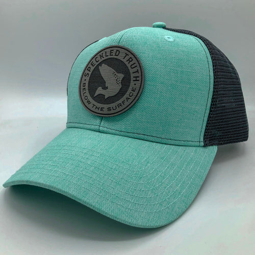 Speckled Truth Foam Circle Patch Cap (Seafoam/Charcoal)