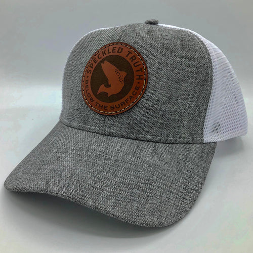 Speckled Truth Circle Patch Cap (Heather Gray/White)