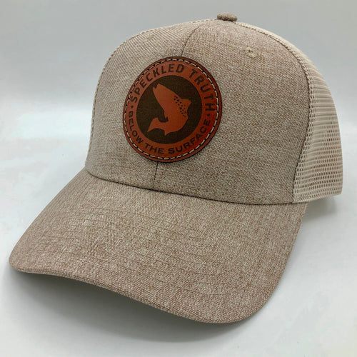 Speckled Truth Circle Patch Cap (Khaki/Tan)