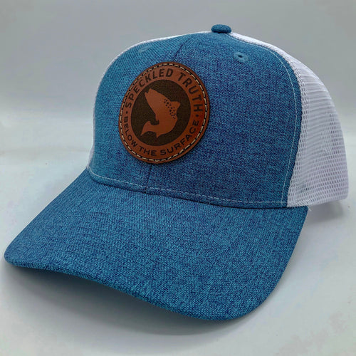 Speckled Truth Circle Patch Cap (Ocean Blue/White)