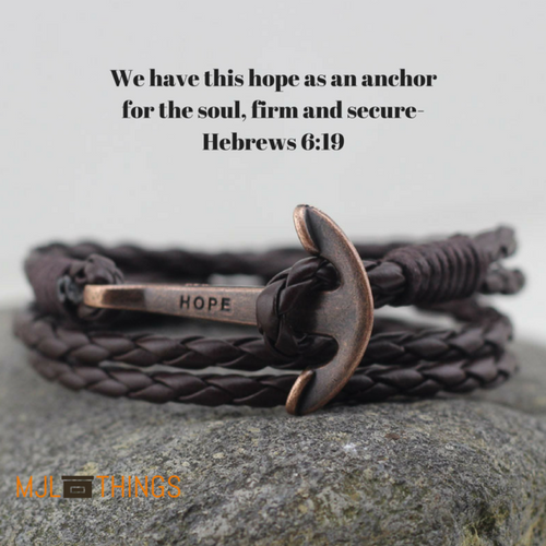 Bronze Hope Anchor Bracelet
