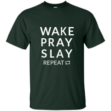 Load image into Gallery viewer, Wake Pray Slay Repeat T-Shirt