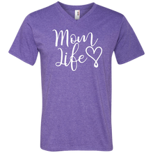 Load image into Gallery viewer, Mom Life V-Neck T-Shirt