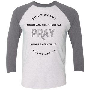 Don't Worry, Pray Baseball Shirt
