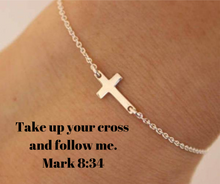 Load image into Gallery viewer, Charm Cross Chain Bracelet