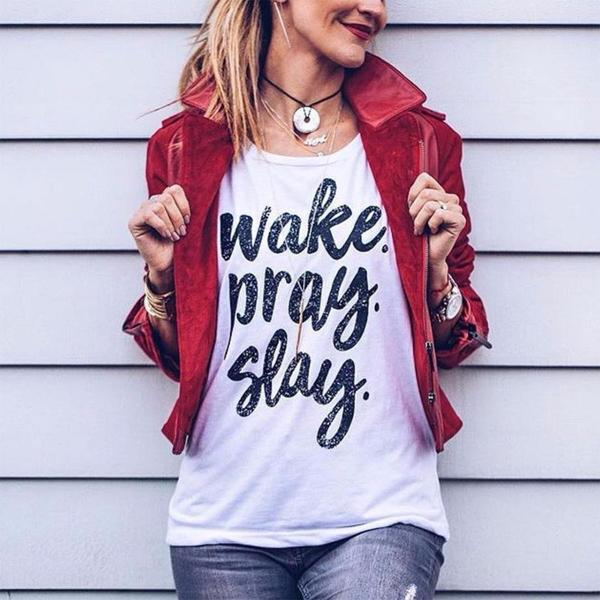 Wake. Pray. Slay. Tank Top