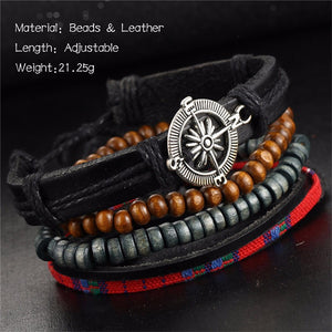 4PCS Faith Compass Bracelets