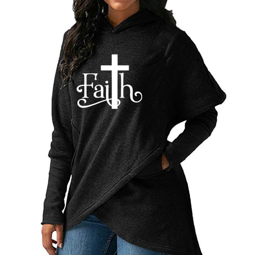 Faith Cross Sweatshirt Hoodie