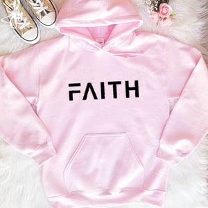 Faith Letter Print Women Hoodies